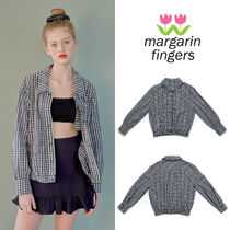 Margarin Fingers Other Check Patterns Casual Style Medium Jackets