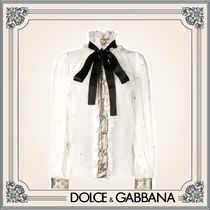 Dolce & Gabbana Star Silk Long Sleeves Elegant Style Shirts & Blouses