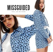 Missguided Short Dots Casual Style Denim Street Style