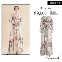 Chicwish Flower Patterns Long Sleeves Long Dresses