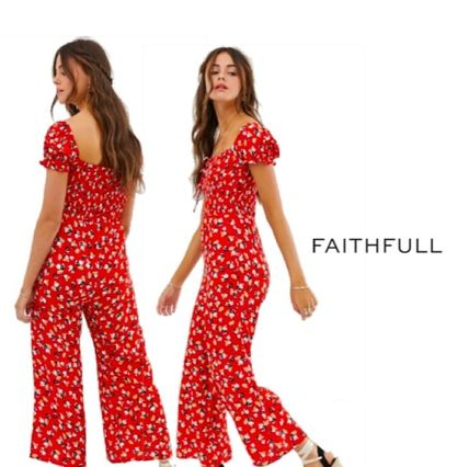 Flower Patterns Casual Style Long Dresses