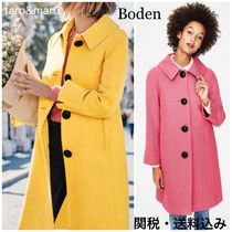 Boden Stand Collar Coats Casual Style Plain Medium Coats