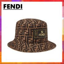 FENDI Unisex Street Style Bucket Hats Wide-brimmed Hats