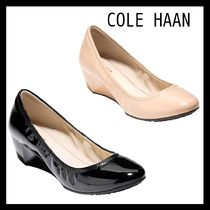 Cole Haan Plain Leather Wedge Pumps & Mules