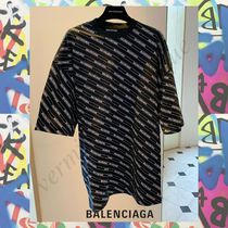 BALENCIAGA Street Style Plain Cotton Short Sleeves T-Shirts