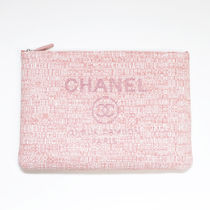 CHANEL DEAUVILLE Casual Style Blended Fabrics Bag in Bag 2WAY Plain Leather