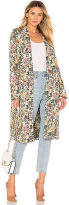 Flower Patterns Casual Style Collaboration Long Jackets