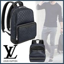 Louis Vuitton DAMIER INFINI Other Check Patterns Blended Fabrics Street Style A4 2WAY