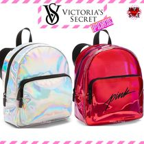 Victoria's secret PINK Flower Patterns Plain Backpacks