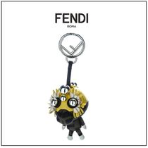 FENDI Blended Fabrics Leather Keychains & Bag Charms