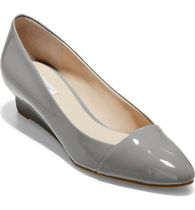 Cole Haan Plain Toe Enamel Plain Office Style Wedge Pumps & Mules