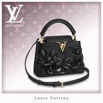 Louis Vuitton CAPUCINES Casual Style 2WAY Leather Handbags