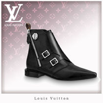 Louis Vuitton Monogram Casual Style Leather Ankle & Booties Boots