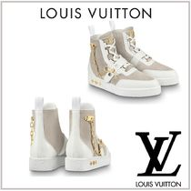Louis Vuitton Chain Leather Boots