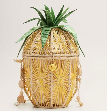 Tropical Patterns Handmade Straw Bags