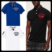 Superdry Street Style Logos on the Sleeves Polos