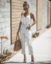 Stripes Casual Style Long Cropped & Capris Pants