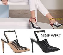 Nine West Square Toe Plain Leather Elegant Style