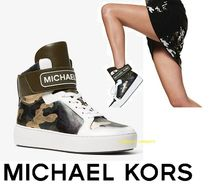 Michael Kors Camouflage Platform Casual Style Blended Fabrics Leather