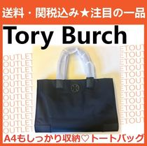Tory Burch ELLA TOTE Nylon A4 Plain Office Style Totes