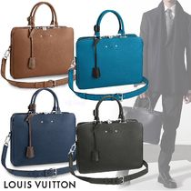 Louis Vuitton TAURILLON Blended Fabrics A4 2WAY Plain Leather Business & Briefcases