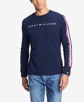 Tommy Hilfiger Crew Neck Street Style Long Sleeves Cotton