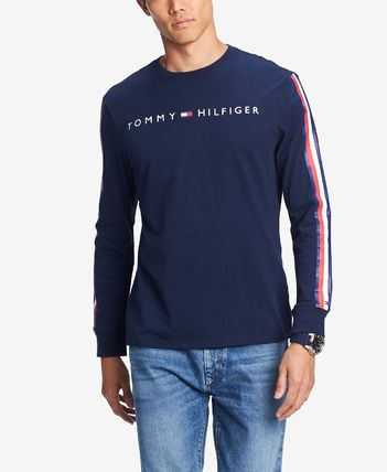 Tommy Hilfiger Long Sleeve Crew Neck Street Style Long Sleeves Cotton 2