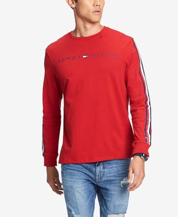 Tommy Hilfiger Long Sleeve Crew Neck Street Style Long Sleeves Cotton 4