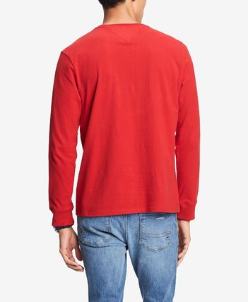 Tommy Hilfiger Long Sleeve Crew Neck Street Style Long Sleeves Cotton 5