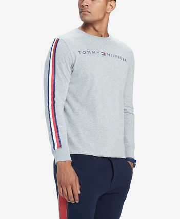 Tommy Hilfiger Long Sleeve Crew Neck Street Style Long Sleeves Cotton 7