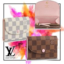 Louis Vuitton DAMIER Other Check Patterns Blended Fabrics Bi-color Leather