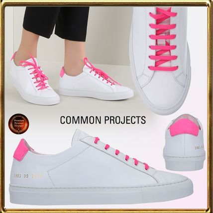 Round Toe Rubber Sole Casual Style Leather Low-Top Sneakers