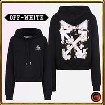 Off-White Short Long Sleeves Cotton Cropped
