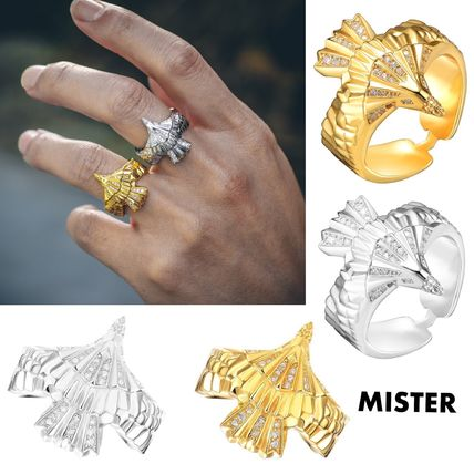 Unisex Street Style Other Animal Patterns Silver Rings