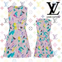 Louis Vuitton Sleeveless Cotton Dresses