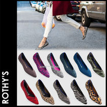 ROTHY'S Leopard Patterns Elegant Style Slip-On Shoes