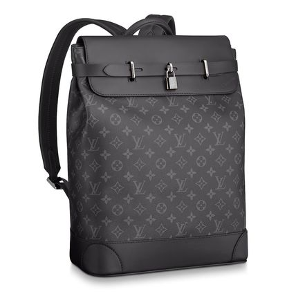 Louis Vuitton Backpacks Monogram Blended Fabrics Street Style A4 2WAY Bi-color 3