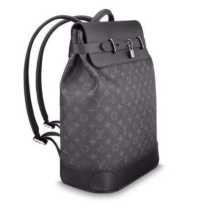 Louis Vuitton Backpacks Monogram Blended Fabrics Street Style A4 2WAY Bi-color 4