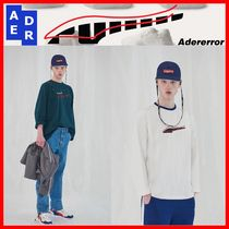 ADERERROR Unisex Street Style Collaboration Long Sleeves T-Shirts