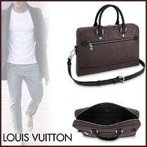 Louis Vuitton Blended Fabrics A4 2WAY Plain Leather Business & Briefcases