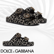 Dolce & Gabbana Leopard Patterns Casual Style Sandals