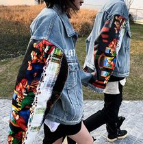 Short Denim Street Style Denim Jackets Oversized Jackets