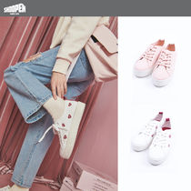 SHOOPEN Unisex Street Style Low-Top Sneakers