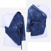 D SQUARED2 Casual Style Denim Blended Fabrics Cropped Plain