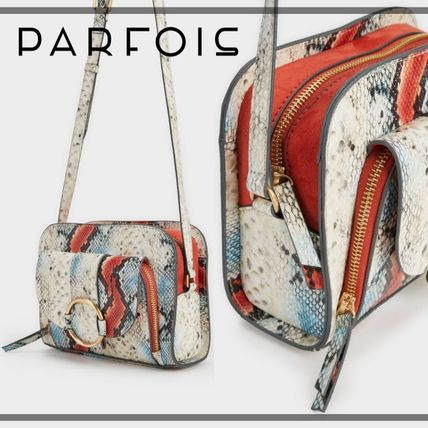 Casual Style Python Shoulder Bags