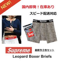Supreme Unisex Street Style Collaboration Plain Cotton Briefs