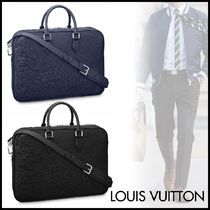 Louis Vuitton EPI Blended Fabrics A4 2WAY Plain Leather Business & Briefcases
