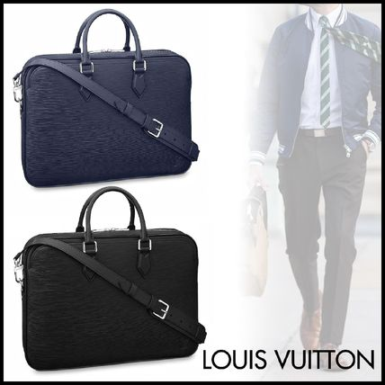 Louis Vuitton Business & Briefcases Blended Fabrics A4 2WAY Plain Leather Business & Briefcases