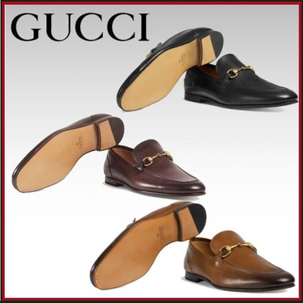 a5e4e1033ad ... GUCCI Loafers   Slip-ons Plain Toe Loafers Plain Leather Loafers ...