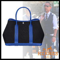 HERMES Garden Party Unisex Street Style Bi-color Plain Leather Totes